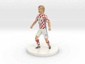 Croatian Football Player in Coated Full Color Sandstone