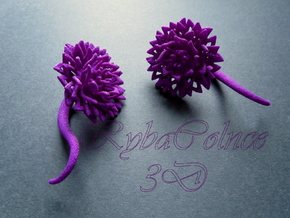 Plugs / gauges/ The Chrysanthemums 4 g (5 mm) in Purple Strong & Flexible Polished