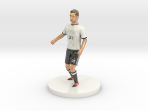 German Football Player in Coated Full Color Sandstone