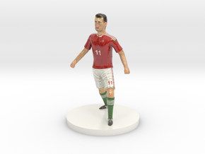 Hungarian Football Player in Coated Full Color Sandstone