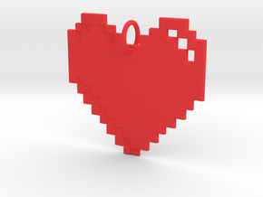 8-bit Heart in Red Strong & Flexible Polished