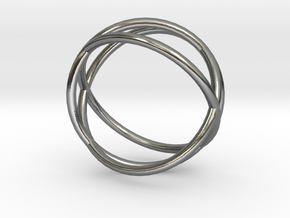 Three Circles Ring in Polished Silver