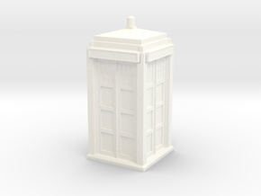 The Physician's Blue Box in 1/32 scale (complete) in White Strong & Flexible Polished