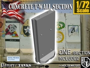 1/72 Concrete T-Wall Section in White Strong & Flexible