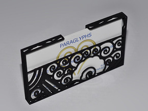 Art Deco Business Card Holder in White Strong & Flexible