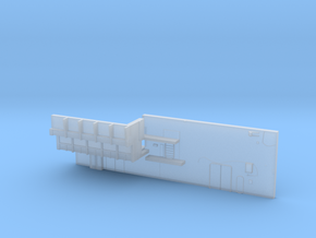 1:350 Scale Nimitz Class Hangar Back Wall in Frosted Ultra Detail