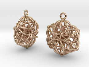 Tangle Earrings in 14k Rose Gold Plated