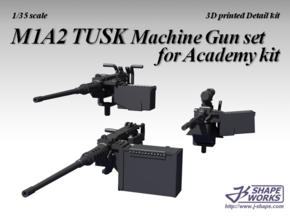 1/35 M1A2 TUSK Machine Gun set for Academy kit in Frosted Extreme Detail