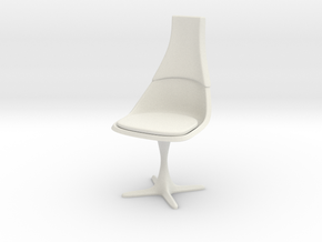 "TOS Chair 115 1:12 Scale 6"" in White Strong & Flexible"