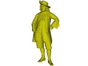 1/15 scale French provost 18th Century figure in Frosted Ultra Detail