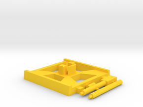 X-Wing Gaming Base (Small), 1 Base in Yellow Strong & Flexible Polished