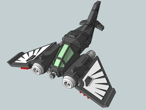 6mm DarkClaw FIghter-Bomber (4pcs) in White Acrylic