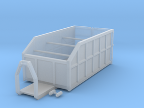 H0 1:87 Abrollcontainer mit Kranplattform in Frosted Ultra Detail