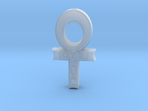 Hollow Hotep Ankh in Frosted Ultra Detail