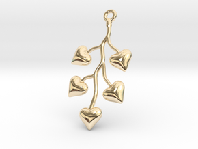 Cluster Of Hearts in 14k Gold Plated