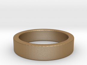 Basic Ring US8 in Matte Gold Steel