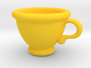 Coffee Cup Pendant in Yellow Strong & Flexible Polished