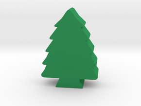 Game Piece, Pine Tree in Green Strong & Flexible Polished