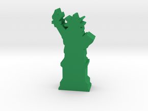 Game Piece, Statue Of Liberty in Green Strong & Flexible Polished