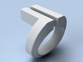 Maglev - size 12 (21.49 mm) in Polished Silver
