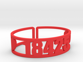 Timber Tops Zip Cuff in Red Strong & Flexible Polished