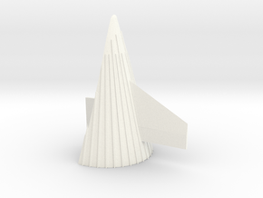 1/48 Saturn V fin Fairing with scale-correct fin in White Strong & Flexible Polished