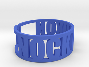 Nock A Mixon Cuff in Blue Strong & Flexible Polished