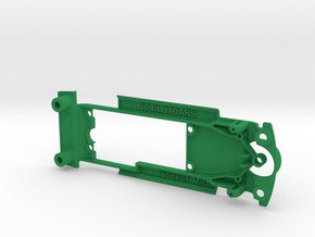 Pioneer '68 Mustang & Camaro Chassis for Slot.it in Green Strong & Flexible Polished