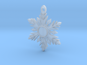 Once Upon a Time Snowflake Pendant in Frosted Extreme Detail