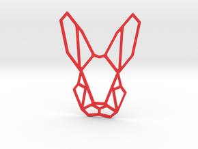Mr. Rabbit Wall Decoration in Red Strong & Flexible Polished