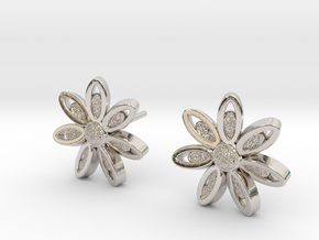 Spring Blossom 5 - Earrings in Rhodium Plated
