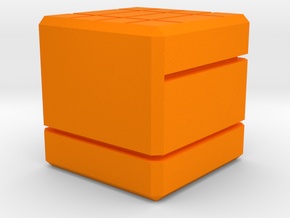 Line-Dice in Orange Strong & Flexible Polished