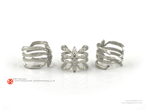 Ring Recluse 8.5 - Detailed spider adjustable in Polished Silver