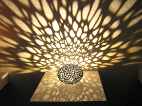 Voronoi Pearl Light Lamp No. 1 (10,4 cm) in Black Strong & Flexible