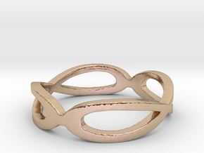"""Zelda"" Double Infinity Ring Size 6 Ring Size 6 in 14k Rose Gold Plated"