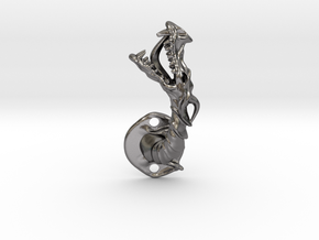 Dragon Cabinet Handle - Facing left in Polished Nickel Steel