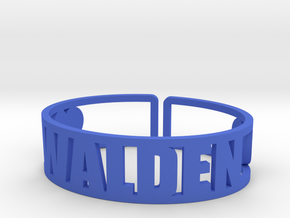 Walden Cuff in Blue Strong & Flexible Polished