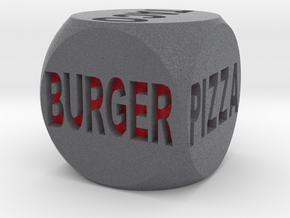 Fast Food Decision Die-Black with red letters in Full Color Sandstone