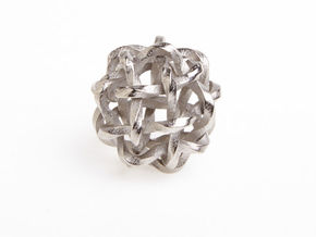 Twisted Single Stranded Globe Knot in Polished Nickel Steel