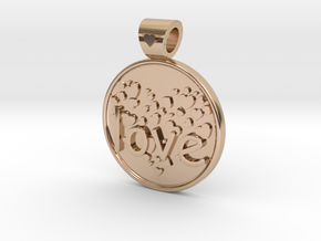 Love ... is forever  in 14k Rose Gold Plated