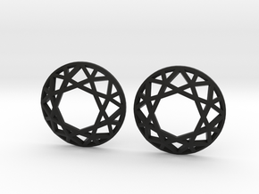 Diamond Wireframe Top Earrings in Black Strong & Flexible
