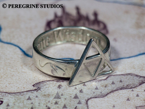 Ring - Triforce of Wisdom (Size 13) in Stainless Steel