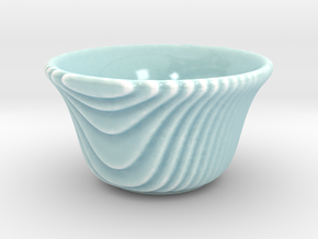 DRAW tea bowl - sippy steppy in Gloss Celadon Green Porcelain
