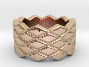 Rhombus Ring 33 – Italian Size 33 in 14k Rose Gold Plated