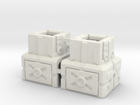 FOC To CW Combiner Port Adapter in White Strong & Flexible