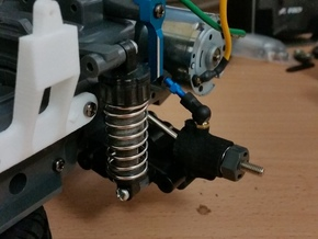 TAMIYA MF01X REAR HUB CARRIER in White Strong & Flexible