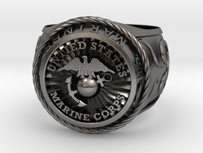 Marines 24mm in Polished Nickel Steel