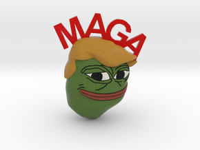 MAGA Pepe in Full Color Sandstone
