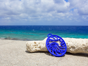 Bonaire Keychain/Pendant in Blue Strong & Flexible Polished