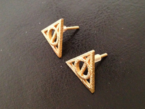 Harry Potter Earrings Deathly Hallows Studs in Stainless Steel